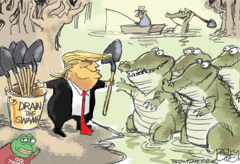 Нелегко же Трампу будет «осушить болото»!