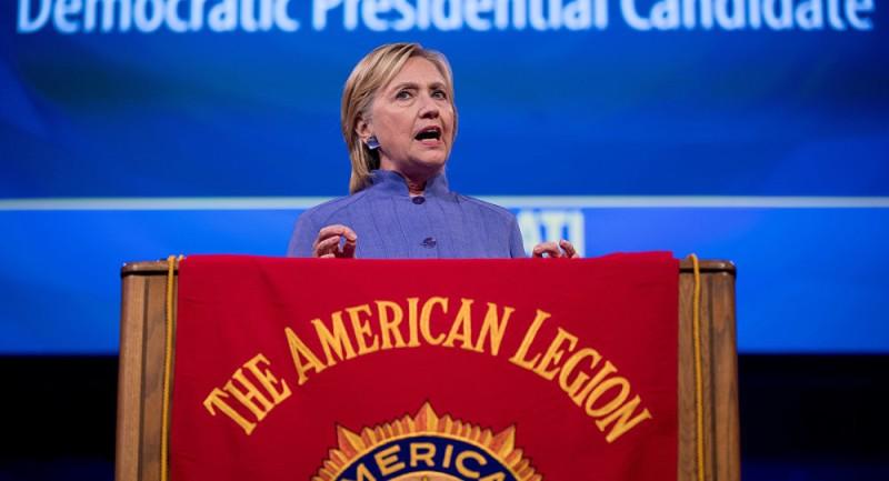 Хиллари Клинтон обращается к Американскому легиону