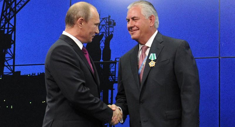 Владимир Путин и Рекс Тиллерсон.