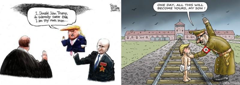 Анти-трамповские карикатуры