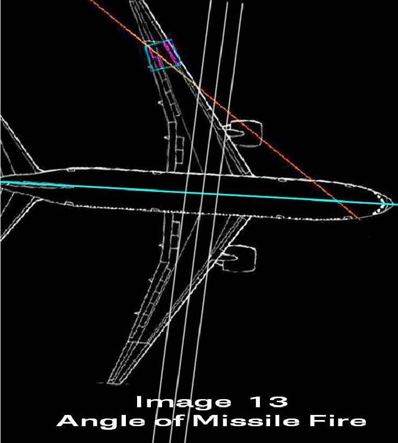 Направление движения поражающих элементов при ведении огня перпендикулярно курсу самолета