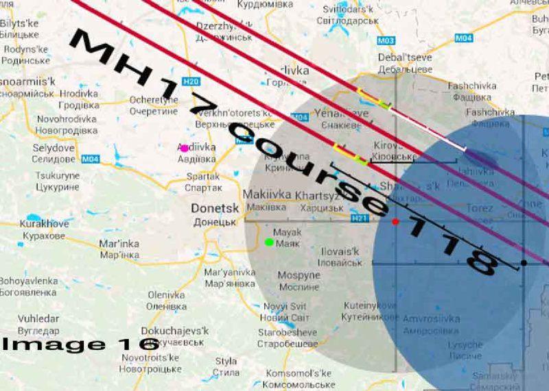 Самолёт рейса MH17 был поражён ракетой, когда он находился более чем в 50 км от позиции у Снежного
