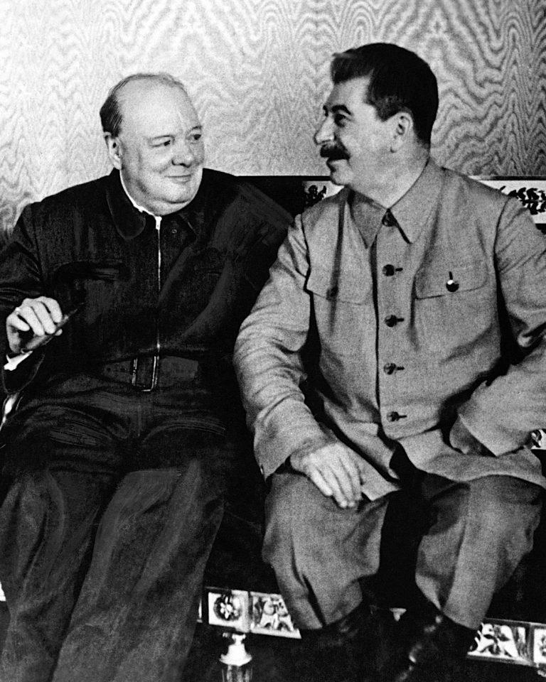 Черчилль и Сталин в Москве в 1942 году.