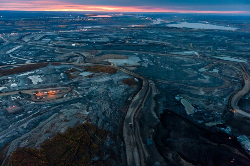 Битумозные пески в провинции Альберта, Канада