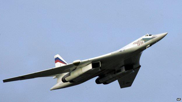 Стратегический бомбардировщик ТУ-160.