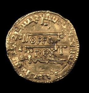 Золотая монета короля Оффы