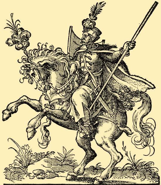 Венгерский гусар в XVI веке.