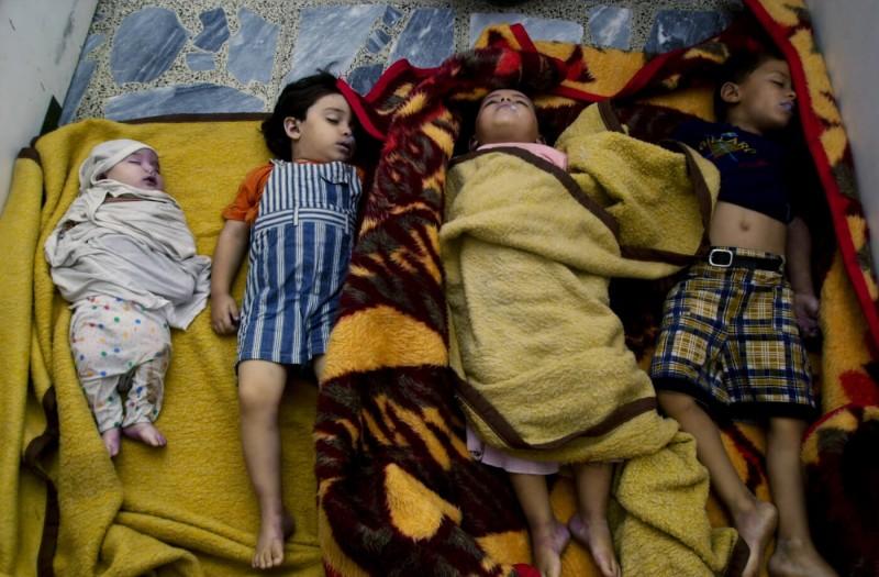 Тела четверых детей