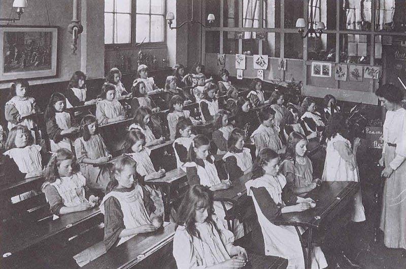 Урок науки в начальной школе, 1908 год